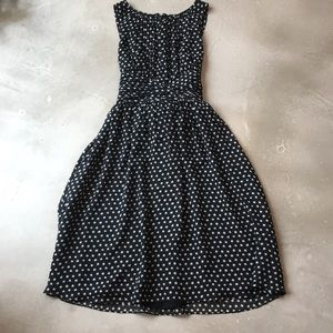 Beautiful Spotted Dress with Keyhole Bodice